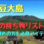 伊豆大島の旅行で失敗しない持ち物リスト6選 子連れの方も必見アイテム集