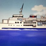 サザエさんも東海汽船に乗って伊豆諸島旅行をしていた⁉️